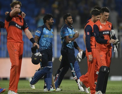 Sri Lanka dismiss Netherlands for 44 in eight-wicket rout