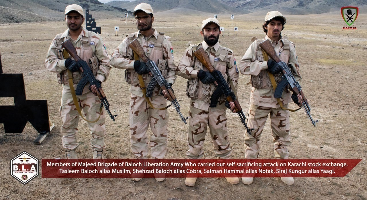 Photo of terrorists involved in PSX attack as claimed by BLA