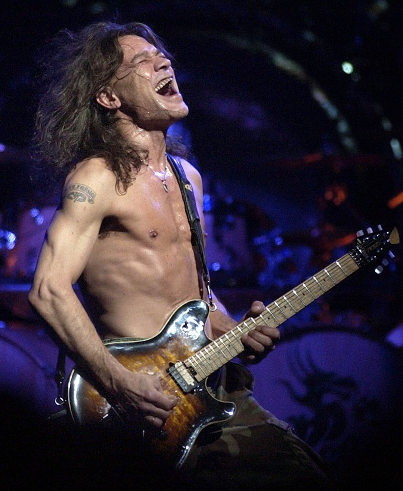 Eddie Van Halen performs in Phoenix in 2004.