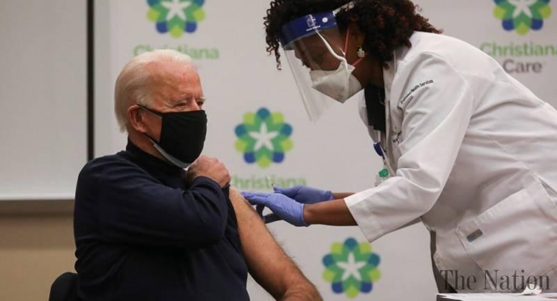 Biden receives COVID-19 vaccine at Delaware hospital