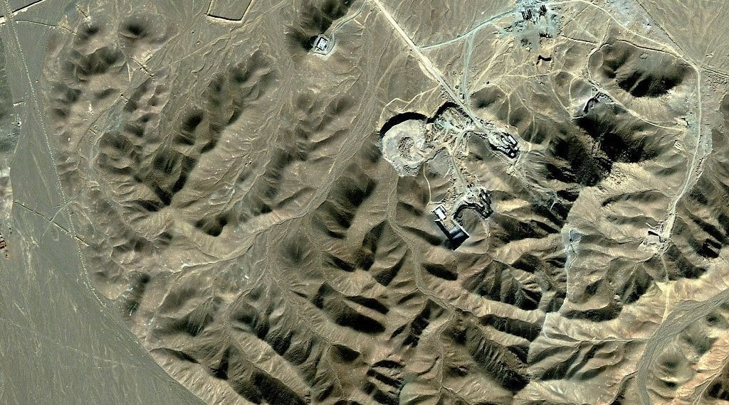 Satellite imagery of the Iranian nuclear facility of Fordo. Source: AFP.