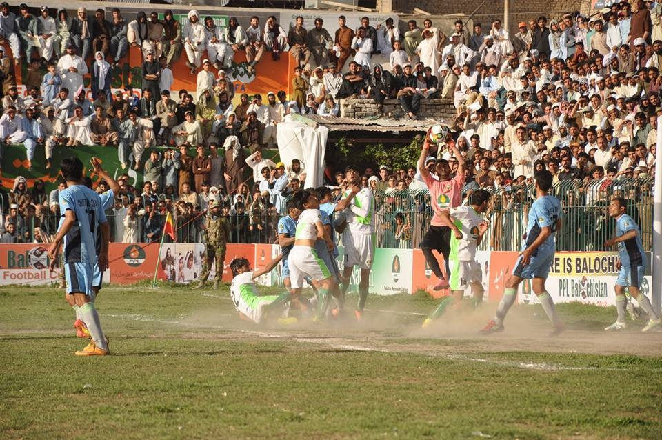 A local football match underway in Quetta, Balochistan. Source: FootballPakistan.com (2017).