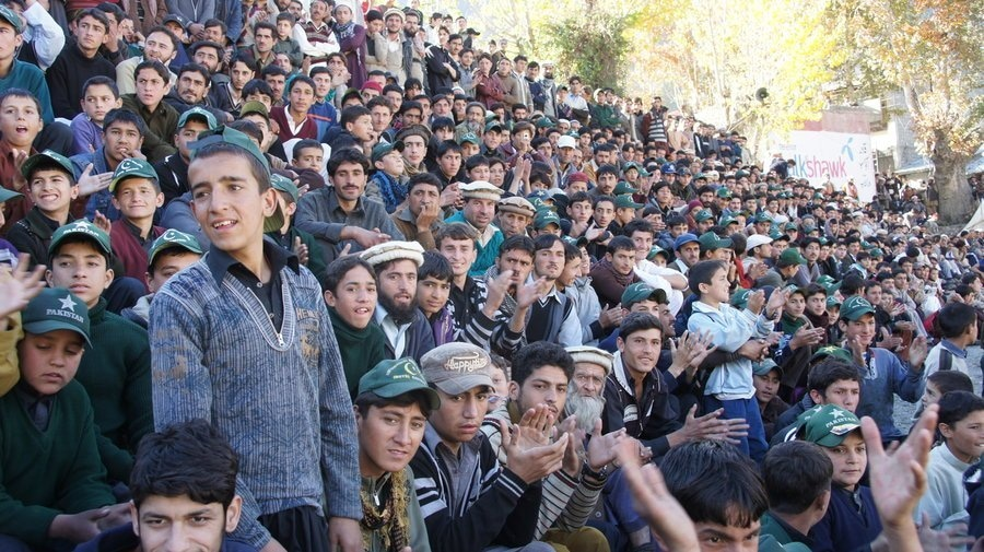 Despite being in the periphery of Pakistan's sports ecosystem, it has attracted a massive audience on a local-level, as seen here in Chitral. Source: FootballPakistan.com (2017).