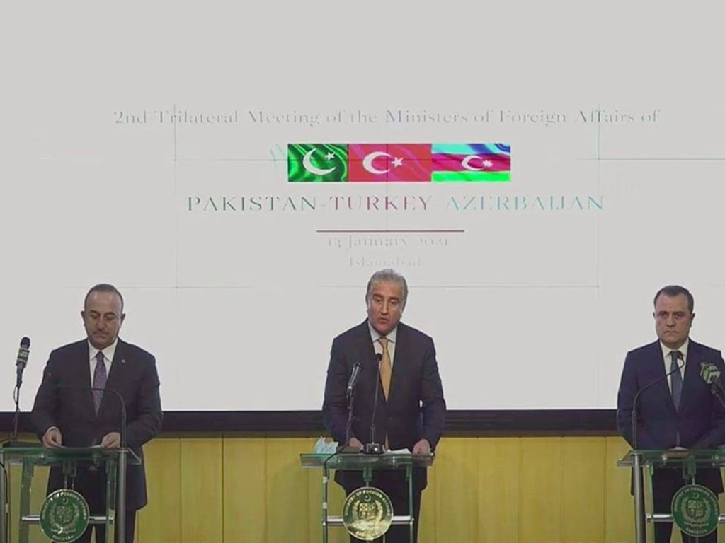 Pakistan, Azerbaijan, Turkey agree to resolve all global issues in line with international law