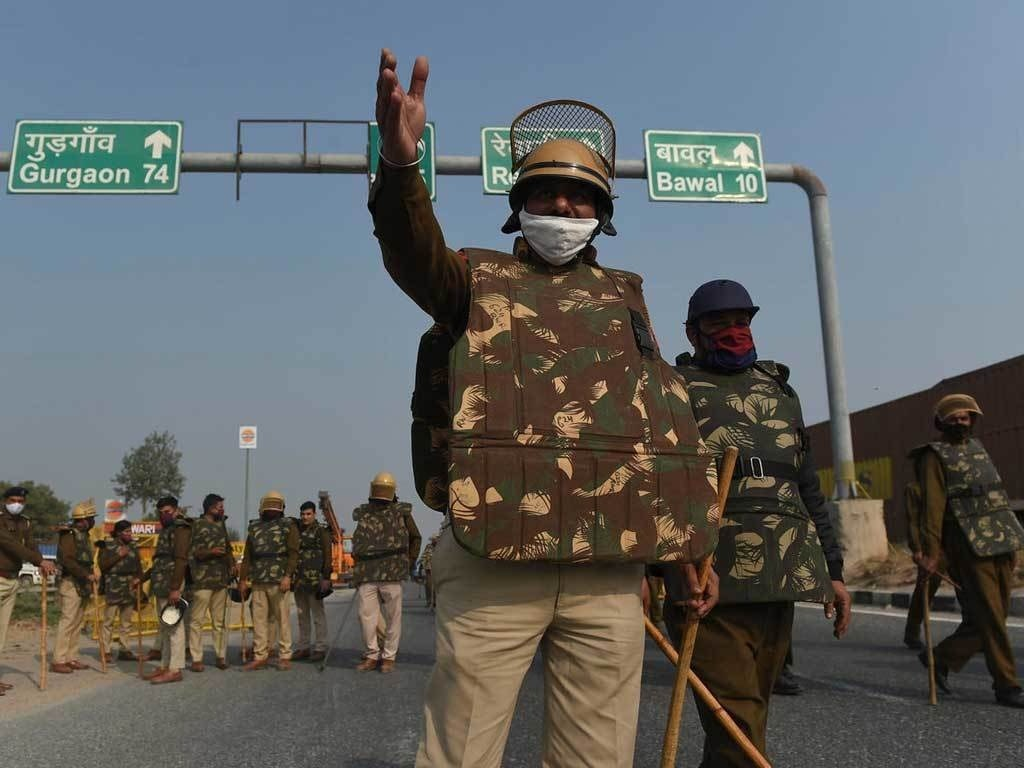 Heavy security, roads closed after Delhi farmer riots