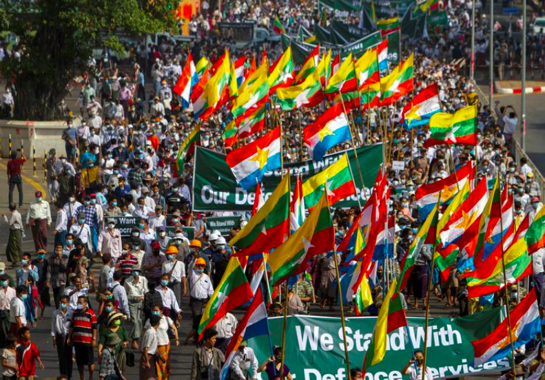 Opponents, supporters of Myanmar coup scuffle as more protests planned