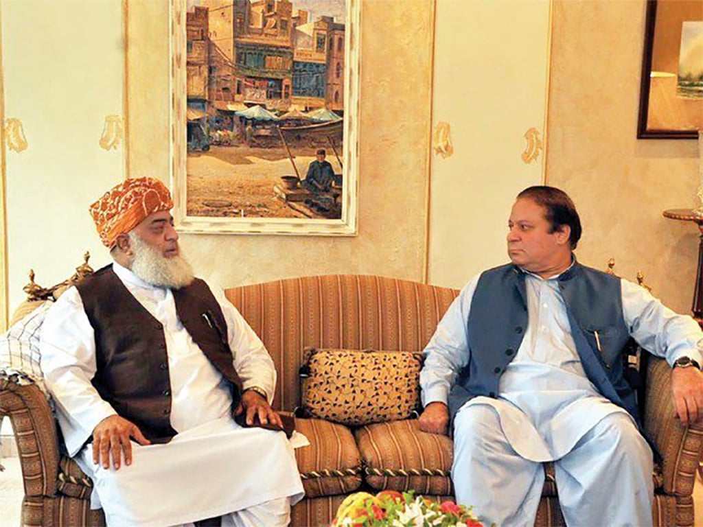 Fazl, Nawaz agree to stage long march without PPP: report