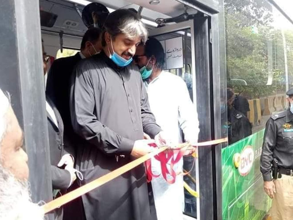 Sindh govt inaugurates Pakistan's first-ever electric bus
