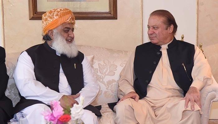 Nawaz, Fazl agree to move forward against PTI govt despite PPP and ANP resignations
