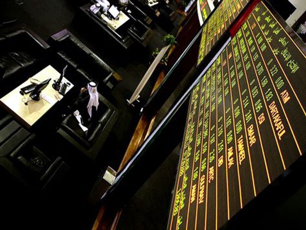 Major Gulf indexes down
