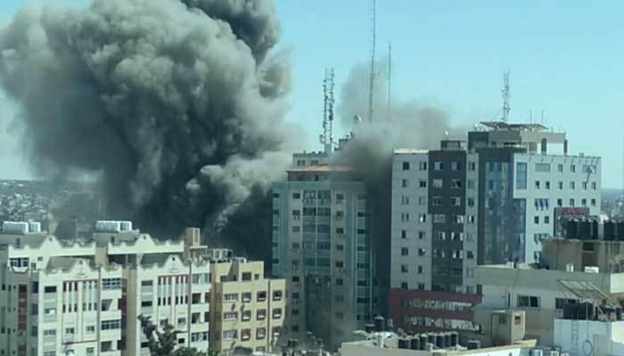 Netanyahu claims building housing media was a 'legitimate target'