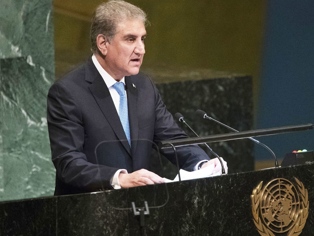 We must not fail the Palestinian people at this critical juncture, FM Qureshi tells UNGA emergency session