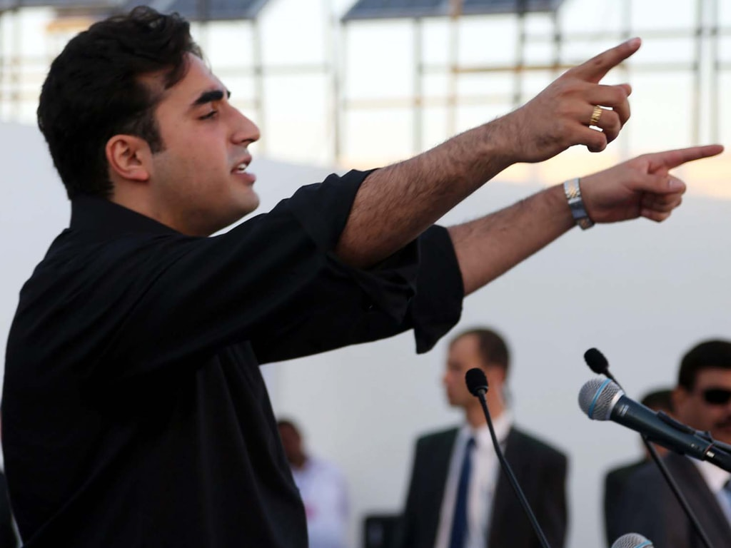 PARTLY FACETIOUS: Bilawal and his dad complement each other