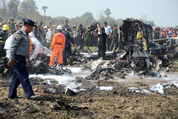 Twelve killed in Myanmar military plane crash