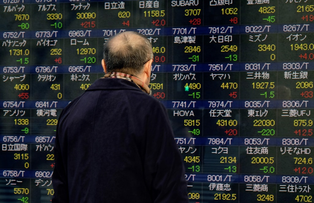 Asia stocks up, US bond yields down as inflation fears ease