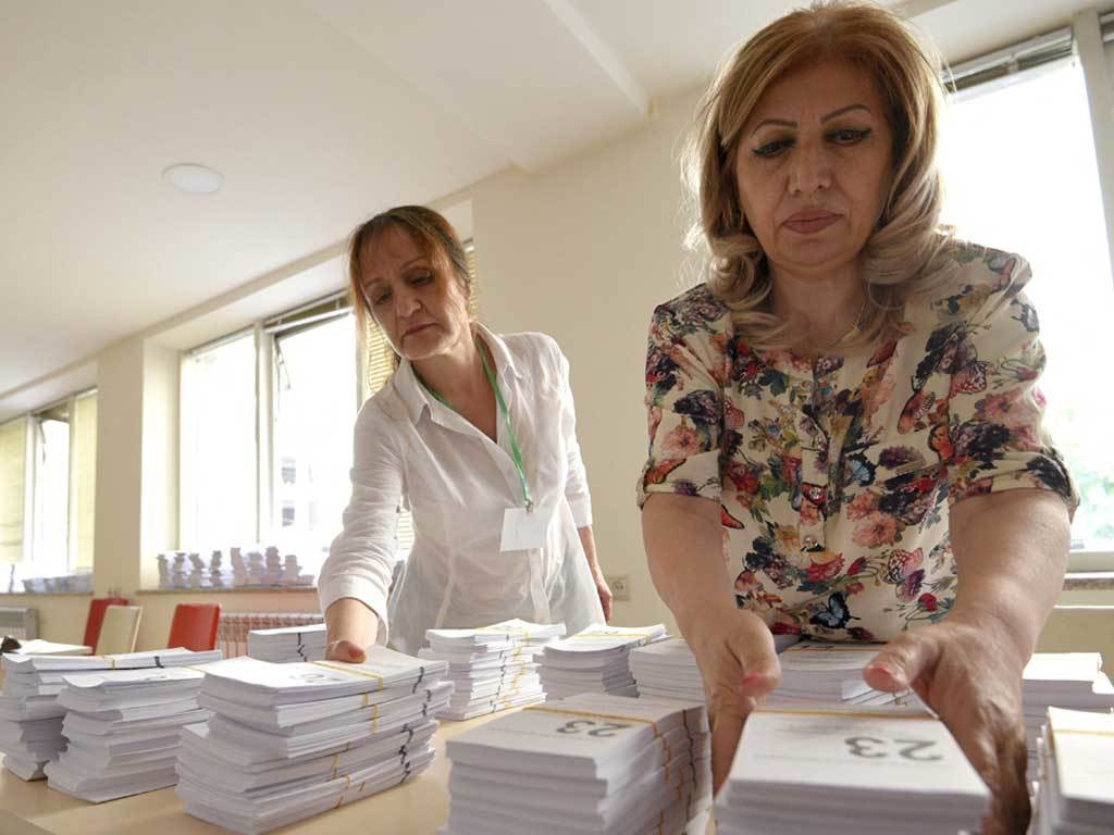 Post-war Armenia holds snap parliamentary election