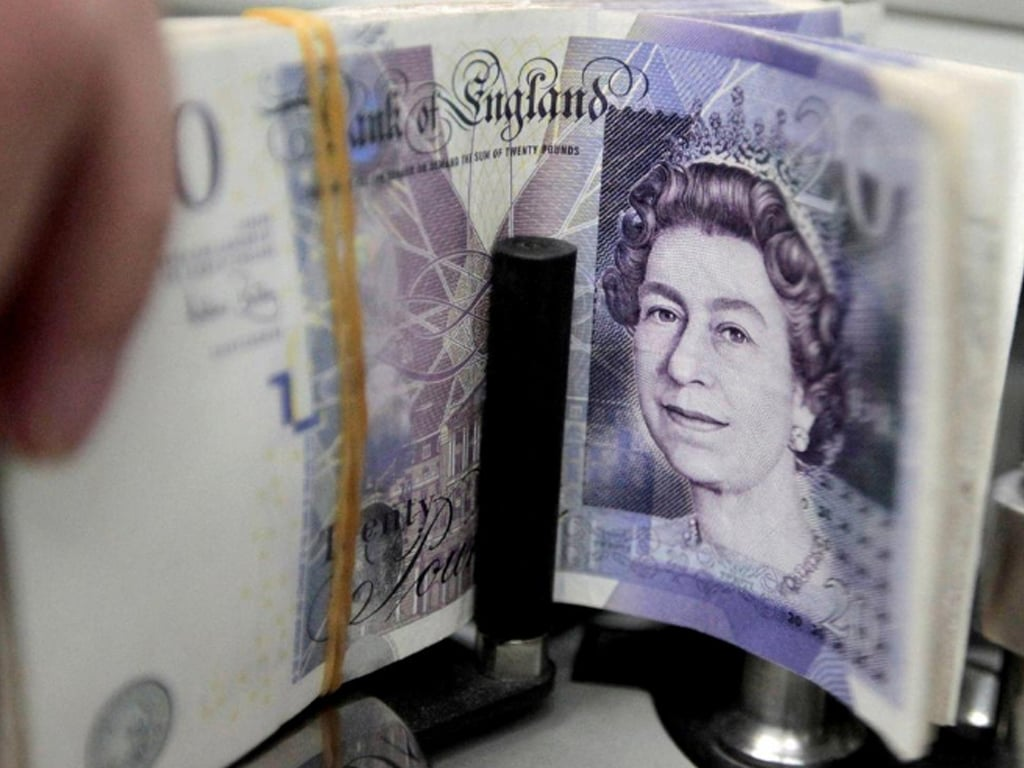 Dollar-driven sterling drops back below $1.39