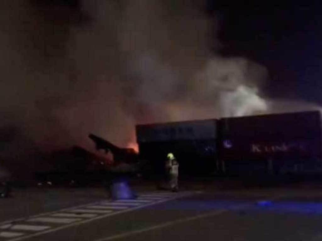 Blaze at Dubai port after loud blast under control