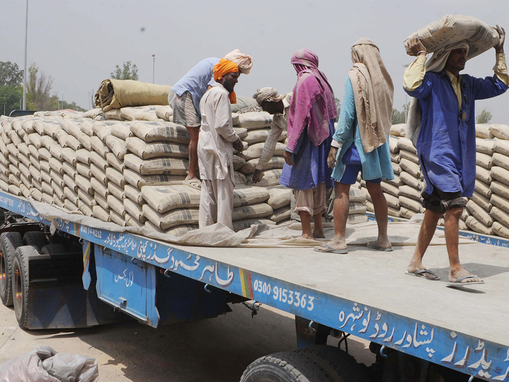 Cement: exports riding in the back seat