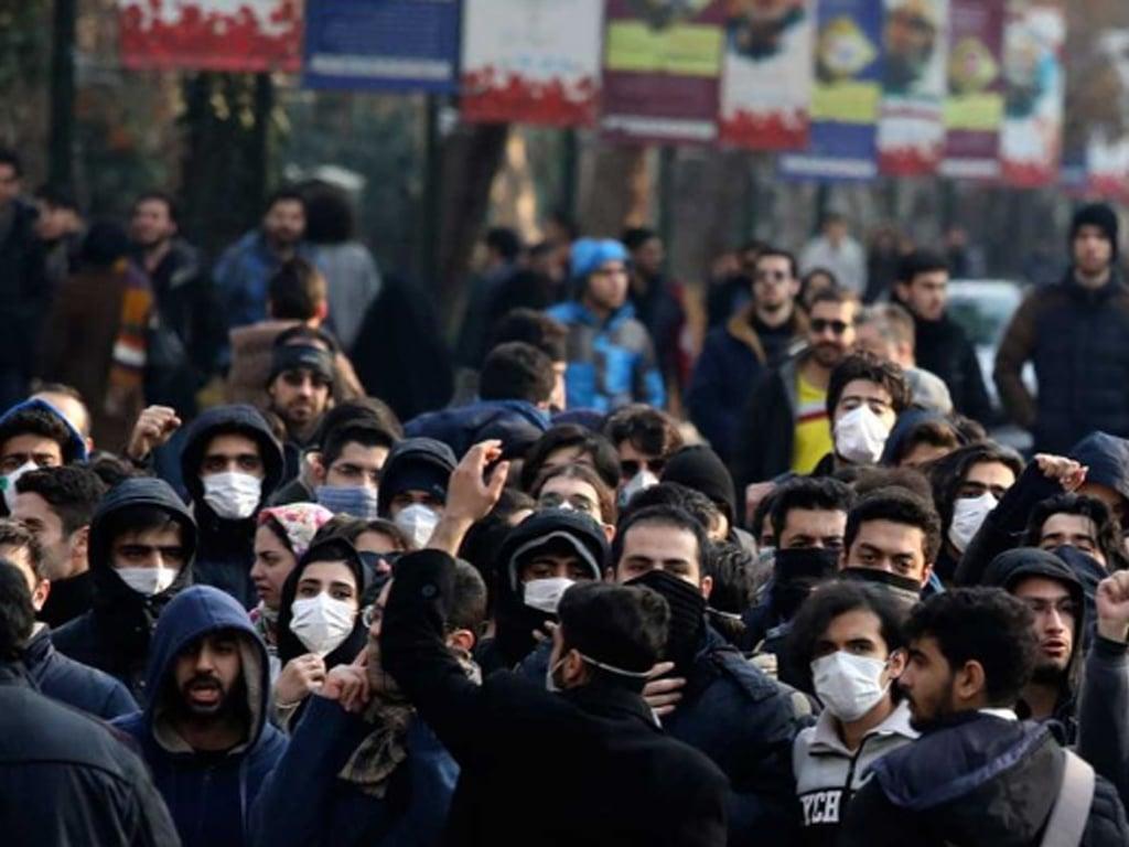 'Political' chants at Tehran power cut protest