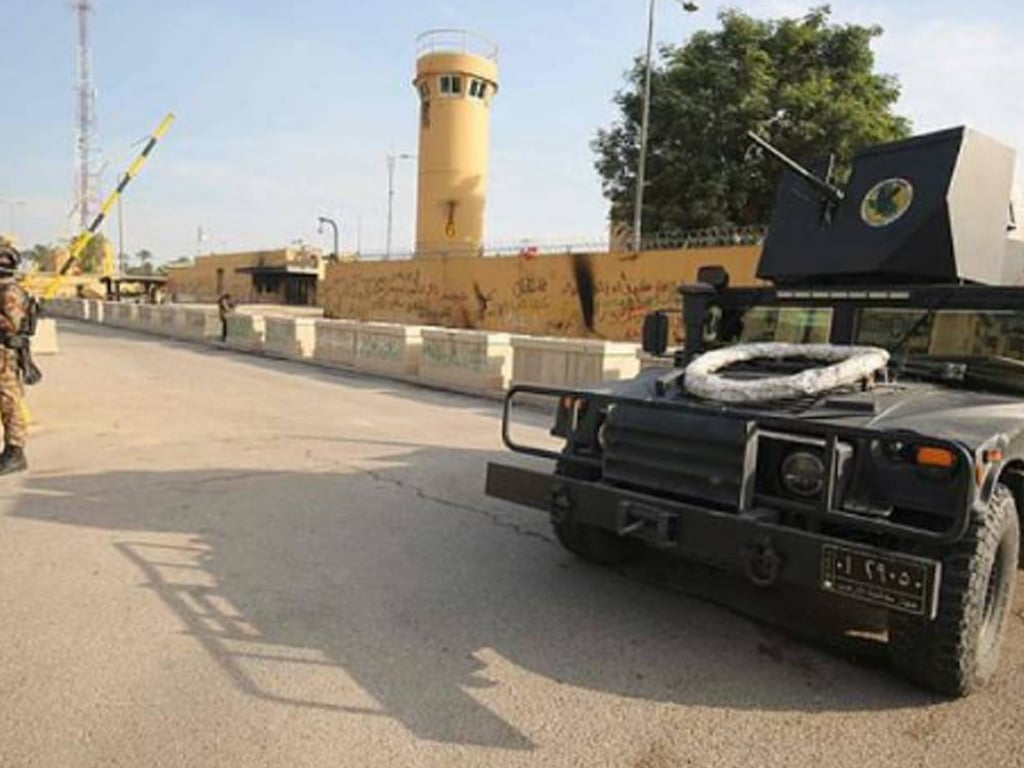 Two rockets fired near US embassy in Baghdad