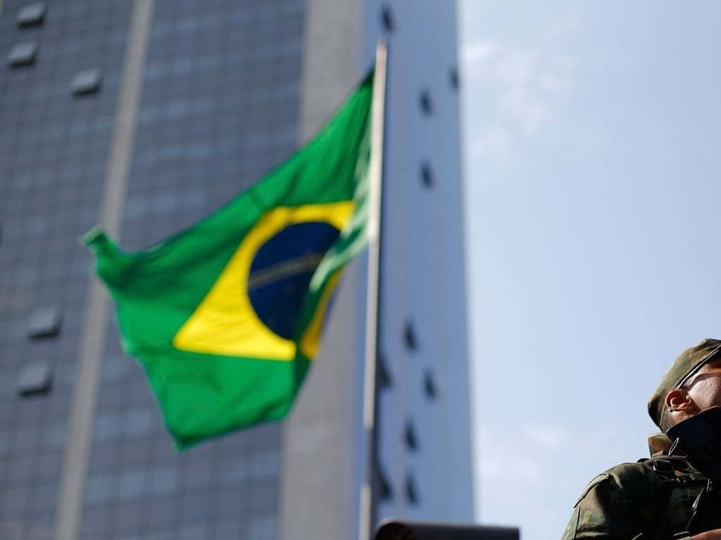 Demonstrators briefly occupy Sao Paulo stock exchange to protest inequality