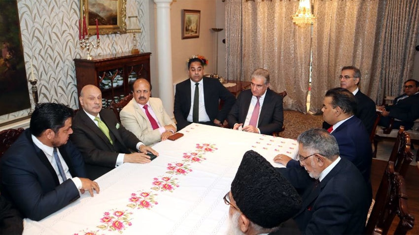 Qureshi urges British Pakistani community to highlight human rights abuses in IIOJK