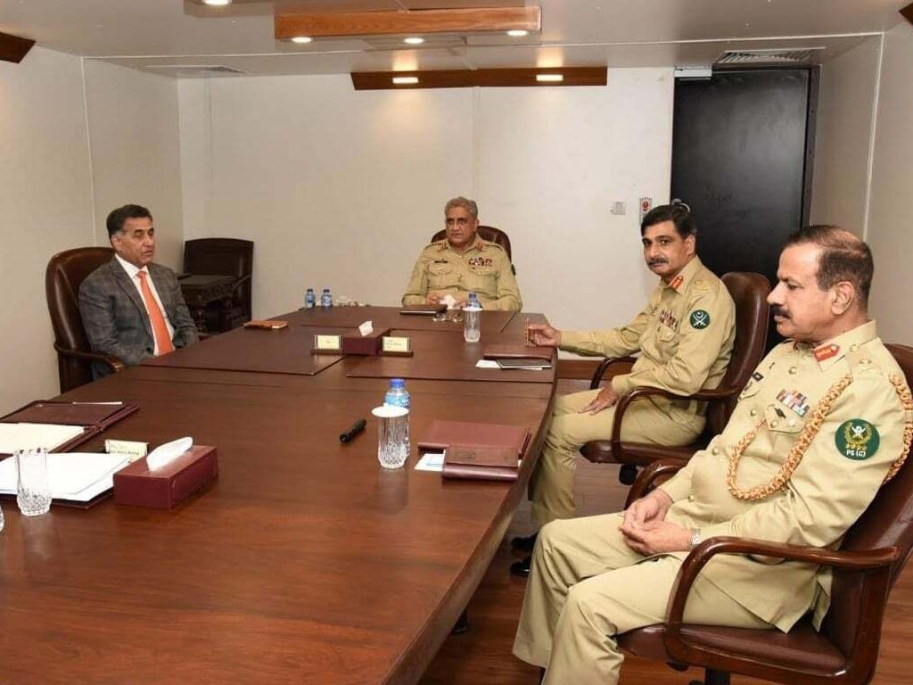 COAS given briefing on Afghan situation at ISI HQs
