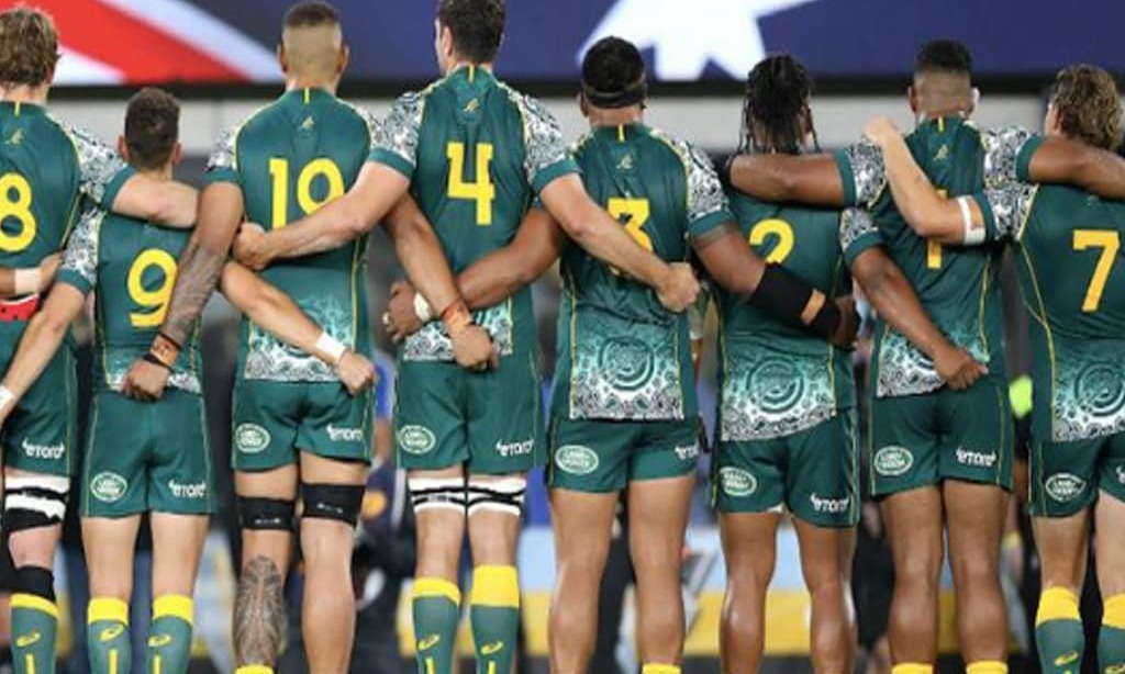 Australia first as anthem sung in indigenous language before test