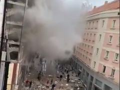 Building collapses in central Madrid explosion, several injured