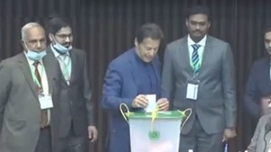 PM Imran casts his vote for Senate elections