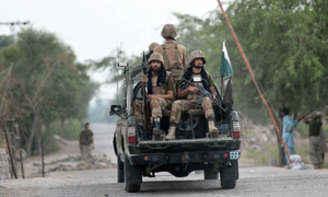 Four terrorists killed in North, South Waziristan IBO: ISPR
