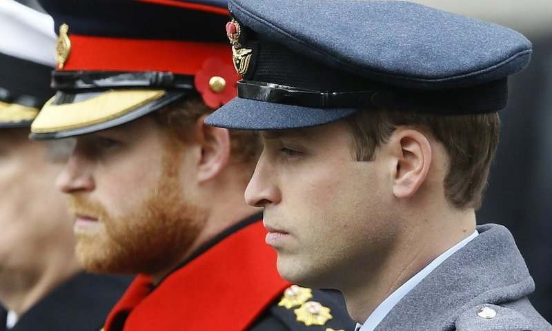 Princes William and Harry won't walk side-by-side at funeral