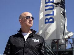 Trip to space with Jeff Bezos sells for $28m