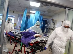Russia's daily virus deaths match record high