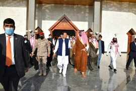 PM Imran arrives in Saudi Arabia for three-day official visit