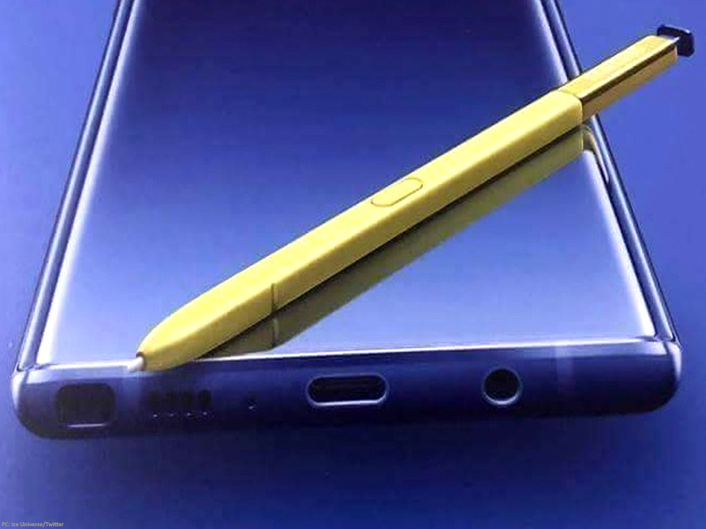 Leaked Picture Shows Samsung Galaxy Note 9 In Blue Yellow Color Technology Business Recorder