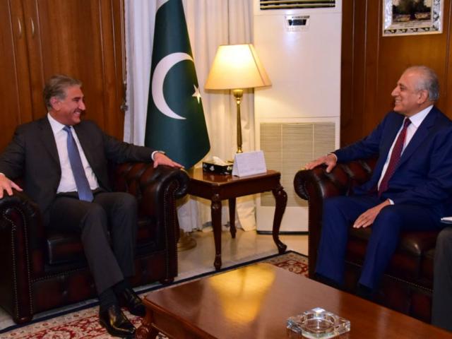 US envoy Zalmay Khalilzad meets FM Shah Mahmood Qureshi