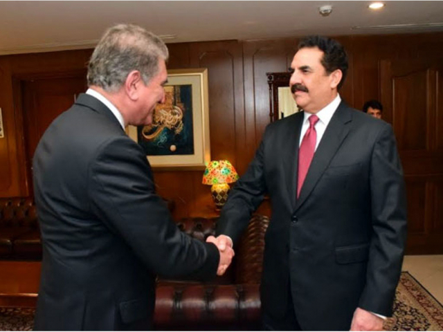 Ex-army chief Raheel Sharif meets Foreign Minister Shah Mahmood Qureshi