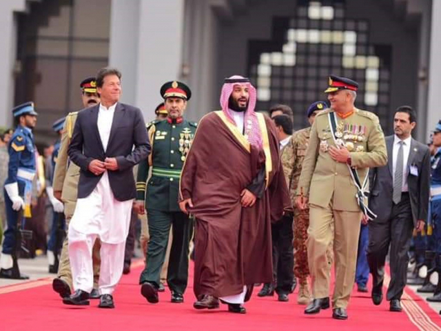 PM, army chief see off Saudi crown prince after completion of historic visit
