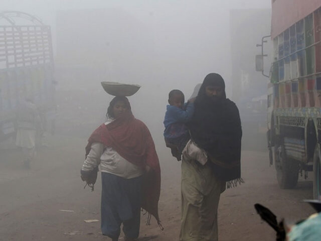 Lahore again ranked second most polluted city in world today as Air Quality Index hits 328