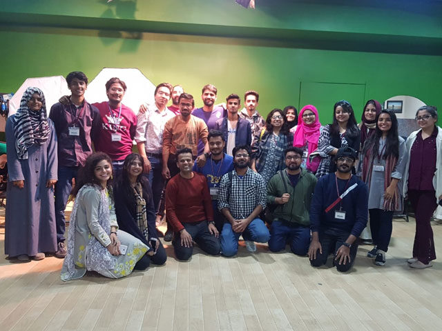 Mentors from NAPA trains Bahria University Karachi Campus students for theatre