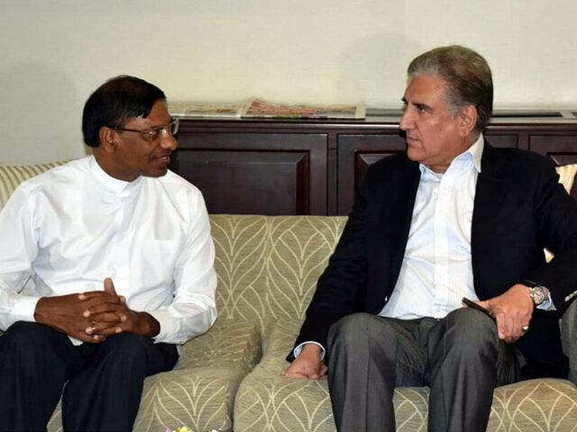 President, PM send 'special letter' with FM Qureshi for newly-elected Sri Lankan counterparts