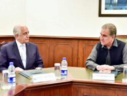 FM, US envoy agree to continue joint efforts for Afghan peace