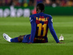 Barcelona's Dembele out with badly torn hamstring