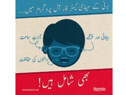 US presidential Bernie Sanders candidate releases campaign posters in Urdu