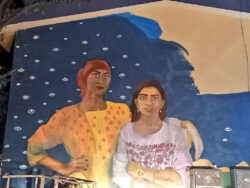 Extremist mob vandalises mural of two women painted by Aurat March organizers