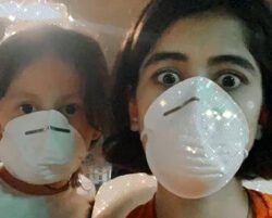 Celebrities create awareness against coronavirus wearing protective mask