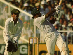 Fans celebrate Minadad's famous six that stunned India in 1986