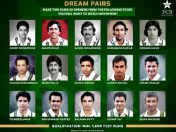 PCB invites fans to make their dream cricket pairs